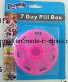 Contenitore di plastica settimanale della casella della pillola da 7 giorni