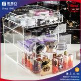Reihe-Acrylverfassungs-Behälter des Rosa-5 mit Kristalldrehknöpfen