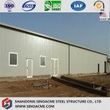 ISO 증명서 Eco-Friendly Prefabricated 강철 구조물 창고