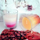La venta al por mayor fijó 4 velas votivas de cristal sospechadas fragancia para la promoción casera de la decoración y del regalo