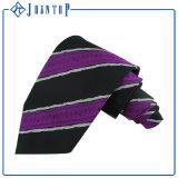 Cravatta nera di abitudine di colore 100% per gli uomini