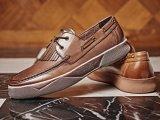 Nubuckの革偶然靴のなまけ者様式歩きやすいメンズ服の靴