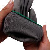 Серый полиэстер PU Palm покрытием перчатки