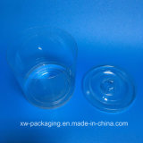 Caixa redonda plástica personalizada nova para produtos da vela