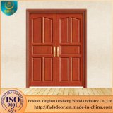 Desheng中国の木製のドアの製造業者のインドの木の両開きドアデザイン
