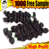 Реми плетение 6A Индийского Реми волос человека