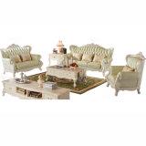El sofá de cuero de madera fijó de la fábrica de los muebles del sofá de Foshan (992S)