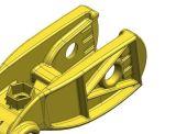 Dmeはアルミニウム部59のための9枚のスライドが付いている鋳造物型を停止する: )