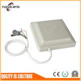 円のアンテナを持つ防水UHF Midlleの範囲RFIDのカード読取り装置8-10メートル