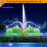 Подгонянный фонтан воды танцы нот искусственного озера