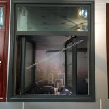 La stoffa per tendine di alluminio di profilo del metallo e Inclinare-Gira Windows con doppio vetro