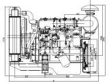 Dieselmotor, Delen van de Generator, Motor, Diesel Motor, Met vier cilinders