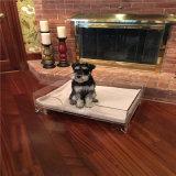 개를 위한 100개의 아크릴 명확한 현대 플라스틱 유리 애완 동물 침대
