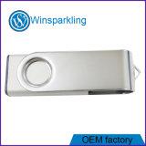 Поворотный горячего металла Custom рекламных флэш-накопитель USB