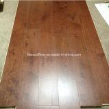 Suelo ancho de madera de roble blanco del tablón del color de Moca del grado del ABC