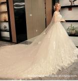Bridal платье 2017 отбортовывая арабские платья венчания с шалью M6856