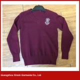 Suéter barato modificado para requisitos particulares del estudiante de Grils de los muchachos del suéter de la escuela para el desgaste de la escuela (U09)