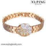 Jóia luxuosa do bracelete da forma, bracelete neutro, bracelete sintético da CZ com o ouro 18K chapeado