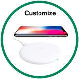 Carregador sem fio cobrando sem fio de Qi da almofada para a galáxia do iPhone X