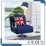 Base di sofà del tessuto di sonno di colore del Brown, mobilia poco costosa del sofà del salone