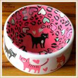 """5 """" 6 """" Kleurrijke Kommen van de Kat van de Hond 100%Melamine voor de Kommen van het Huisdier (KE0024)"""