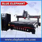 Blauer Automobil-Hilfsmittel-Wechsler CNC-oszillierende Messer-Spindel-Sandpapierschleifmaschine-Hilfsmittel-Schaufel-Rollenpapier-Ausschnitt-Maschine des Elefant-2040
