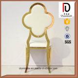 Présidence chaude d'acier inoxydable de modèle de fleur d'or de Rose de vente pour la salle à manger