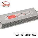 Smun 200W 15VDC 13.3A는 IP67 일정한 전압 LED 운전사를 방수 처리한다