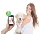 テニスの御馳走写真球犬のSelfieの全体的な最初進水多機能の助手