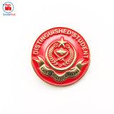 Pin rosso del risvolto dello smalto dell'oro lucido 3D nel prezzo di fabbrica
