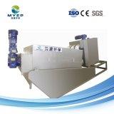 Multi-Disc deshidratación de lodos de tratamiento de aguas residuales químicos filtro prensa de tornillo