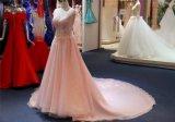 Мантия вечера платья способа Sequin розовая шифоновая