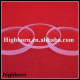 Hoja modificada para requisitos particulares transparente del vidrio de cuarzo con los filos