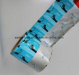 Película de polietileno laminada cruz de empacotamento da película de rolo do preservativo
