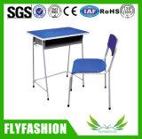 Venta caliente de la Escuela de colores simples más barata de escritorio con silla SF-82s