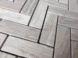 Mattonelle di mosaico di marmo grige del reticolo del Chevron per il disegno interno