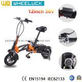 E-Bici plegable de la aleación de aluminio de 12 pulgadas con el motor sin cepillo Assit
