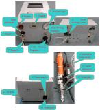 A máquina do parafuso com chave de fenda e o alimentador automático