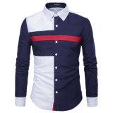 La chemise d'hommes de chemises occasionnelles neuves de chemises des hommes Long-Sleeved de robe occasionnelle