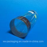 新しい印刷されたプラスチック円形ボックス
