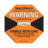 Zelfklevende 100g Groene Etiketten Shockwatch voor Uitgevoerde Goederen