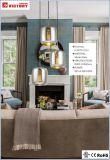Indicatore luminoso di vetro di rame decorativo moderno semplice del pendente del lampadario a bracci