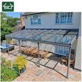 アルミニウムフレームおよびポリカーボネートの屋根が付いている家の販売台地の日除け及びテラスの日除けのおおいのため