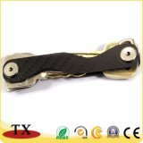 Beste verkaufende Multifunktionskohlenstoff-Faser-Schlüsselkette und Schlüssel-Organisator
