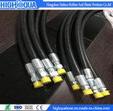 Mangueira hidráulica preta de superfície DIN/En 854 2te de pano