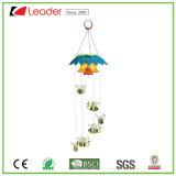 De zonne Vogel Windchime van het Glas met Licht voor de Decoratie van het Huis en van de Tuin, past Uw aan