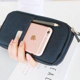 Многофункциональный холст ткань карандашом Bag простым карандашом молнии случае большое количество обмоток чехол с карты памяти и паспорт карман