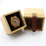 Colores de madera determinados del rectángulo de almacenaje de la joyería cuadrada de calidad superior disponibles