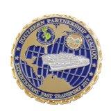 Armée de pièce de monnaie d'enjeu plaquée par or pour le souvenir (SCS-121)
