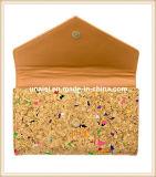 虹の女性のための多彩なコルクの札入れ袋の財布
